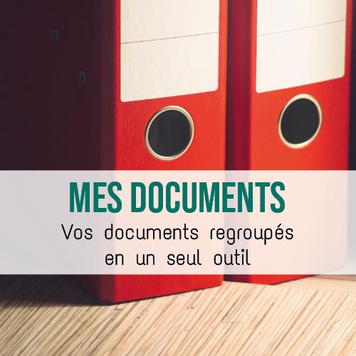 """Illustration article """"Mes documents"""" : Tous vos documents en un seul endroit"""