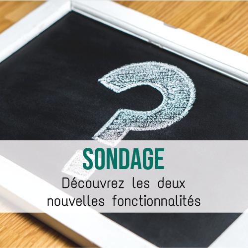 """Illustration article Un outil """"Sondage» plus complet"""