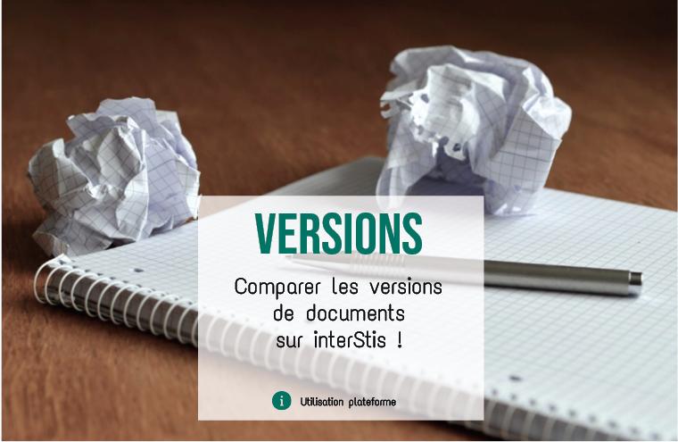 Illustration article Comparer les versions d'un document sur interStis