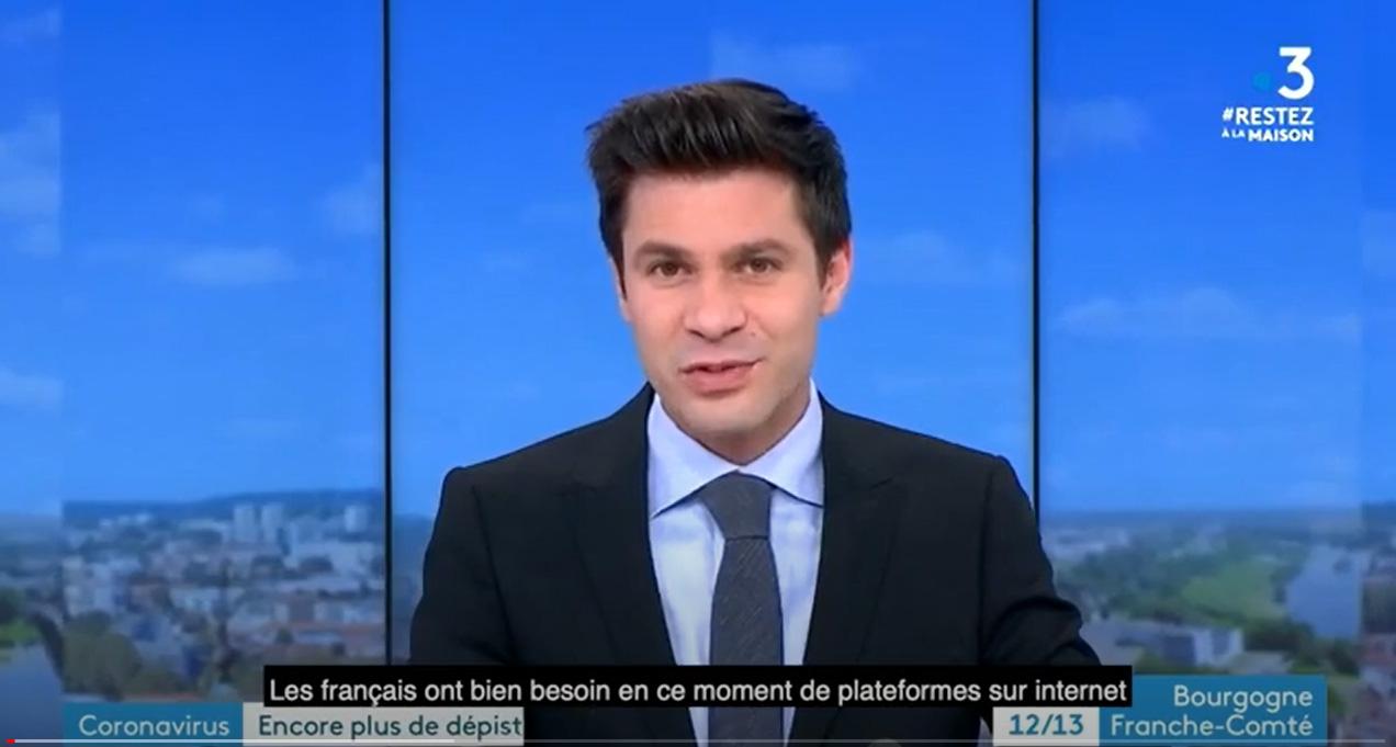 Illustration vidéo InterStis interviewé par les équipes de France 3